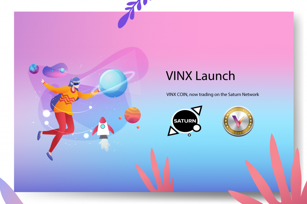 Vinito Capital Management's Ethereum coin, VINX, is now trading on the Saturn Network